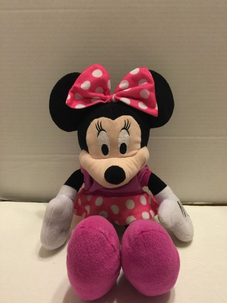 "Primary image for Disney Minnie Mouse Bow-Tique Plush 17"" Northwest Co. Pink Polka Dot"