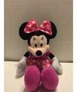 "Disney Minnie Mouse Bow-Tique Plush 17"" Northwest Co. Pink Polka Dot - $5.89"