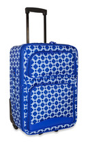 Chain Link Carry On Luggage Suitcase Travel Small Rolling Wheeled Expandable