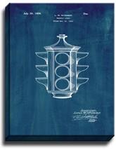 Traffic Light Patent Print Midnight Blue on Canvas - $39.95+