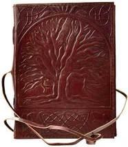 Sacred Oak Tree leather blank book w/ cord - $24.00