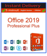 Microsoft Office 2019 Professional Plus 64 bit download with key for 1 P... - $12.90