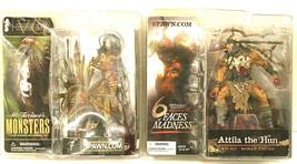 2002 McFarlane's Monsters Voodoo Queen + 2004 Attila the Hun Action Figu... - $48.61