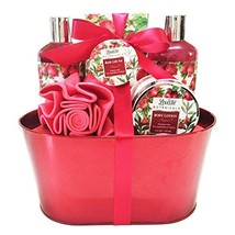 Spa Gift Basket - Bath and Body Works Set with Vanilla Fragrance - $37.55