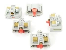 LOT OF 5 NEW IDEC BST-001 CONTACT BLOCKS BST001, 10A