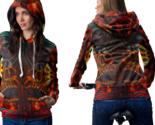 Dmt skull crystal hoodie zipper for women thumb155 crop