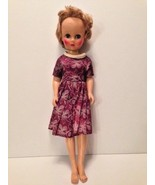 "Vintage fashion doll marked 14R vinyl body/soft face swivel body 18"" dre... - $21.49"