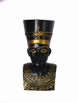 3.5 Inch Egyptian Queen Nefertiti Head and Bust Resin Statue Figurine - $23.99