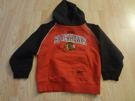 Youth Chicago Blackhawks M (5/6) Hoodie Hooded Sweatshirt Reebok - $9.49