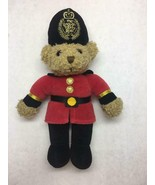 VINTAGE Teddy BEAR Guard THE ENGLISH TEDDY Bear CO Red COAT Tall HAT Gold - $29.69