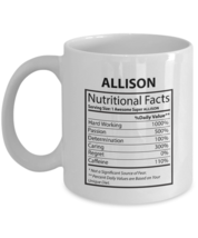 You're my person Mug For Him, Her - ALLISON Nutritional Facts-  Customiz... - $14.95