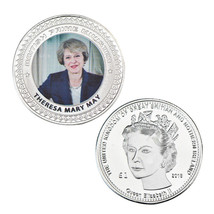 WR Theresa May Silver Plated Coin British Prime Minister 2018 Gifts UK K... - $4.32