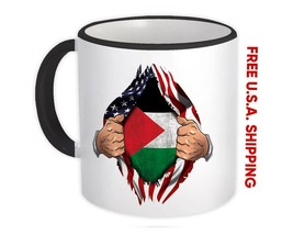 Palestine : Mug Flag USA American Chest Palestinian Expat Country - $13.76+