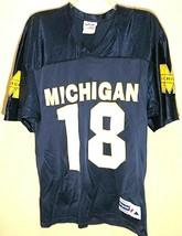 Michigan Wolverines #18 NCAA Big Ten Vintage Football Blue Maize White J... - $44.50
