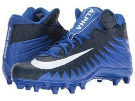 Nike Alpha Menace Varsity Mid - Game Royal/White/College Navy SZ 13 880137 - $47.50