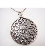 Multiple Hearts Pendant 925 Sterling Silver Corona Sun Jewelry - $8.90