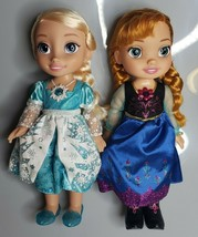 "Frozen 2 Singing Sisters Anna Elsa Dolls Jakks Pacific 14"" Sing & Light ... - $99.95"