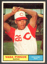 1961 Topps #110 Vada Pinson Reds Vg/Ex  Centered Nice! - $4.00