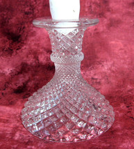 English Hobnail Candleholder Westmoreland Clear Single Light Candle Holder 1960s - $18.00
