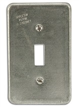 (2) New Appleton O-Z Gedney FSK1TS Toggle Switch Covers 1-Gang Aluminum ... - $12.86