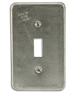 (2) New Appleton O-Z Gedney FSK1TS Toggle Switch Covers 1-Gang Aluminum ... - $12.86