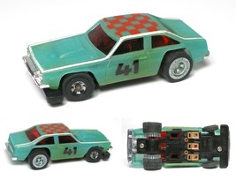 1977 Ideal Tcr Slot Less Nova Glo Car Body MK1 & Unused Small 41 Version Pushcar - $21.77