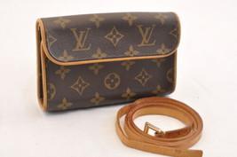 LOUIS VUITTON Monogram Pochette Florentine Bum Bag M51855 LV Auth 7745 - $520.00