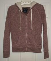 American Eagle Pink Zip Up Hoodie Sweatshirt Size M - $15.99