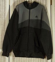 ADIDAS Grey Colour Block Hoodie Youth L 164 cm Hooded Sweatshirt Boys Un... - $25.33