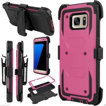 For Samsung Galaxy S7 Edge Outer Hard Box Case Cover w/ Belt Clip Holste... - $8.59