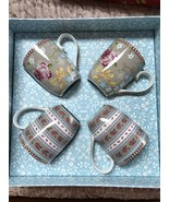 PIP STUDIO HOME Floral Collection Gift Box 4 pc Khaki Small 5oz Coffee T... - $48.15