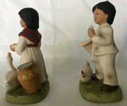 Homco - Boy and Girl with Eggs Basket (#1409) - $8.90