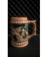 VINTAGE GERMAN STYLE CERAMIC BEER STEIN MUG - MADE IN JAPAN - $9.89
