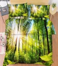 3D Forest Sun 15 Bed Pillowcases Quilt Duvet Cover Set Single Queen King... - $64.32+