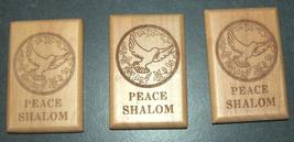 Israel Olive Wood Small Magnet Judaica Messianic Menorah Jerusalem Peace Dove image 7