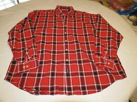 Gant Nuevo Haven Oxford Hombre Botón Manga Larga Camisa XL Rojo Cuadros ... - $21.30