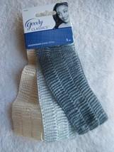 3 Goody Fabric Headwraps Light Dark Blue Beige Airy Gauze Mesh Head Band Hair - $10.00