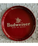 "Anheuser Busch logo Budweiser King of Beers Original 12"" Red Beer Tray V... - $77.59"