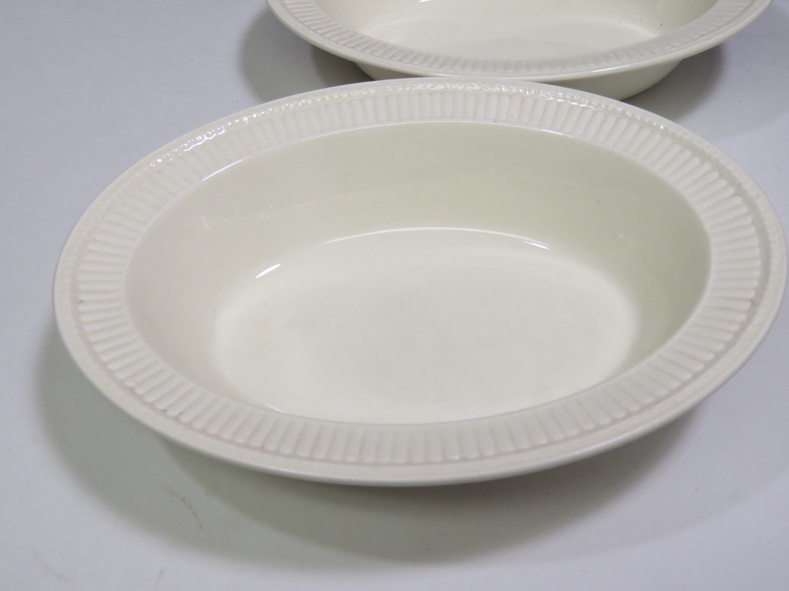 "2 Wedgwood Edme Creamware Oval Vegetable Serving Bowls 10.75"" image 7"