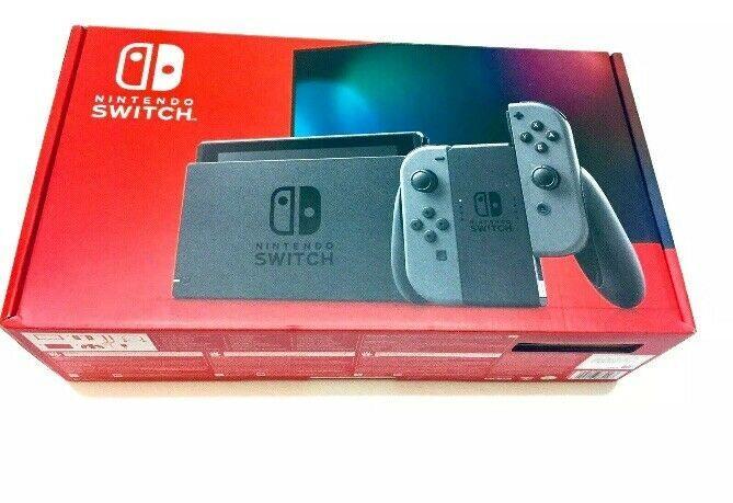 New Nintendo Switch 32GB Game Console w/ 2 Gray Joy-Con (V2 Newest Model) - $398.88
