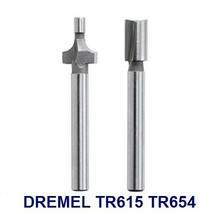 """Dremel Trio Router Bits TR615 Roundover And TR654 3/16"""" Shank Straight TR670 - $13.99"""