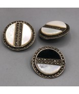 Vintage Sterling Silver Clip On Earrings & Brooch Set Jewelry Mid Century - $78.20