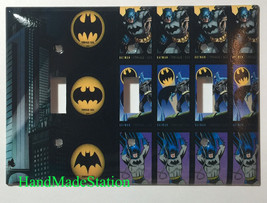 Batman Comics USPS Stamps Light Switch Power Outlet Wall Cover Plate Home decor image 10