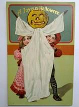Original Halloween Postcard Paul Finkenrath Series 778 Embossed Antique Unused - $117.56