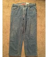 Mens Eddie Bauer Flannel Lined Blue Jeans, Size 38x27 - $29.99