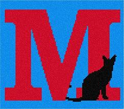 pepita Letter M Black Cat Needlepoint Kit - $80.00