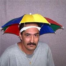 2  STAY COOL COLORED UMBRELLA HAT new womens mens headwear cap umbrellas - $6.31