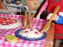 Barbie Spaghetti Dinner Garlic Toast Lot fits Fisher Price Loving Family... - $8.99