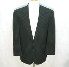 LANDS END Men's (Size 40R) Dark Gray Striped 2 Button Sport Coat Blazer ... - $19.95