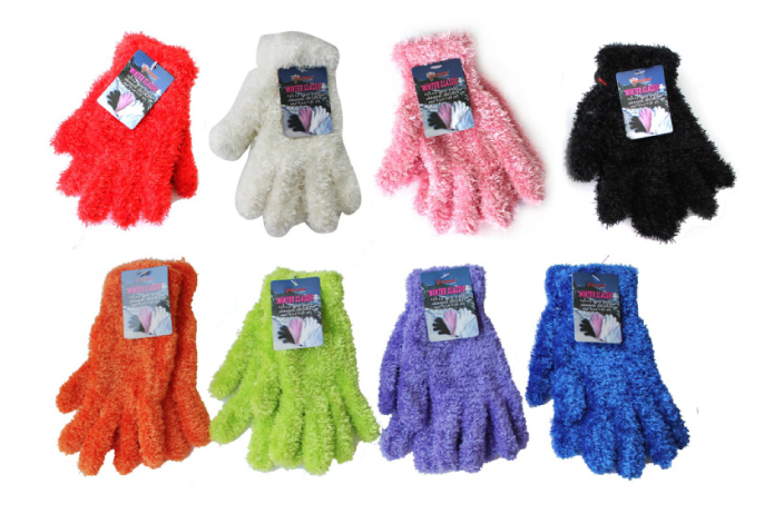 Case of [36] Women's Feather Yarn Gloves